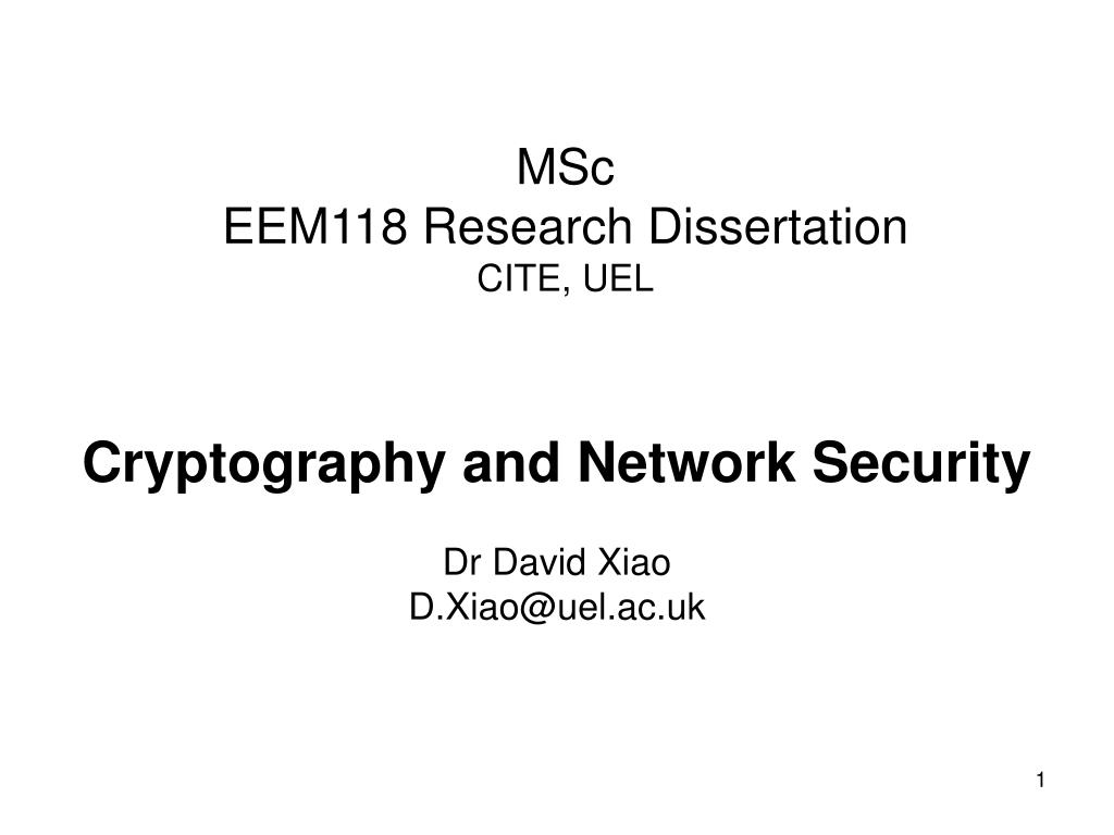 Phd thesis cryptography
