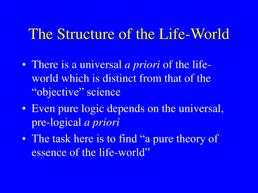 The Structure of the Life-World