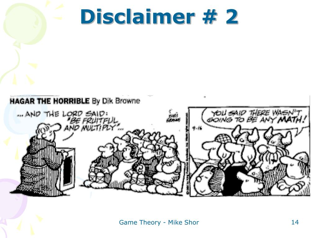Disclaimer # 2