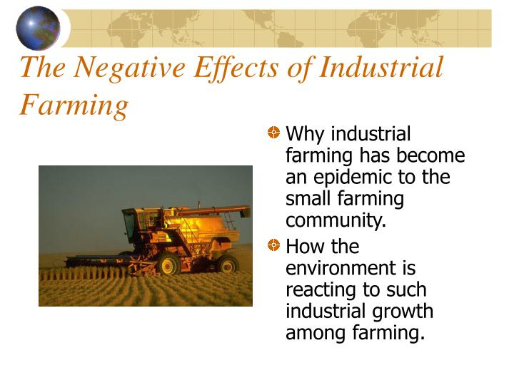 the negative effects of industrial farming n.