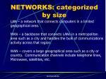 networks categorized by size