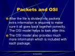 packets and osi