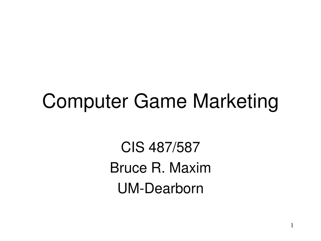 computer game marketing