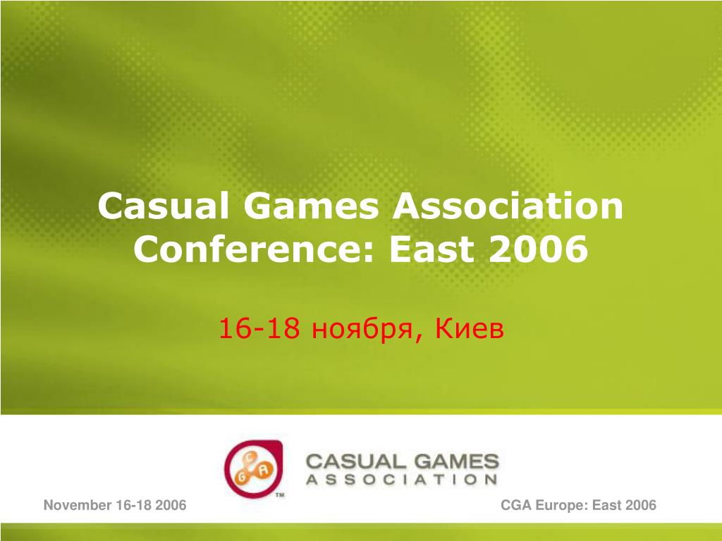 casual games association conference east 2006 l.