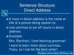 sentence structure direct address