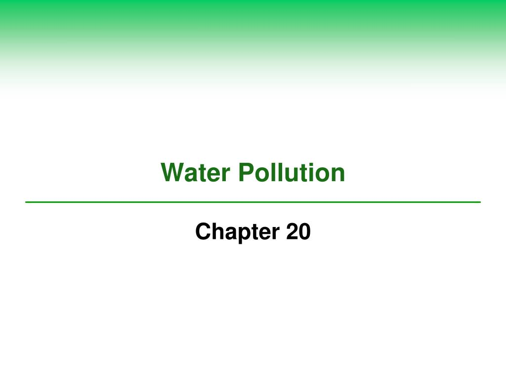 water pollution l.