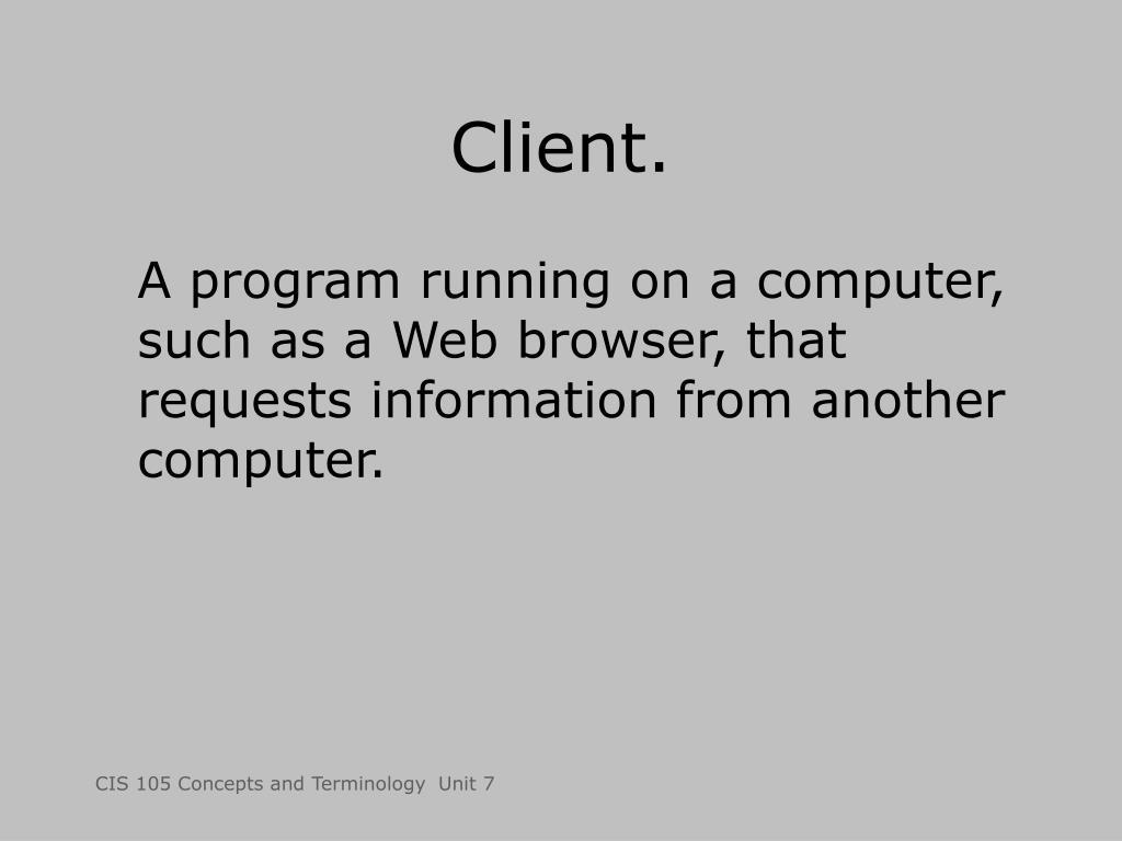 Client.