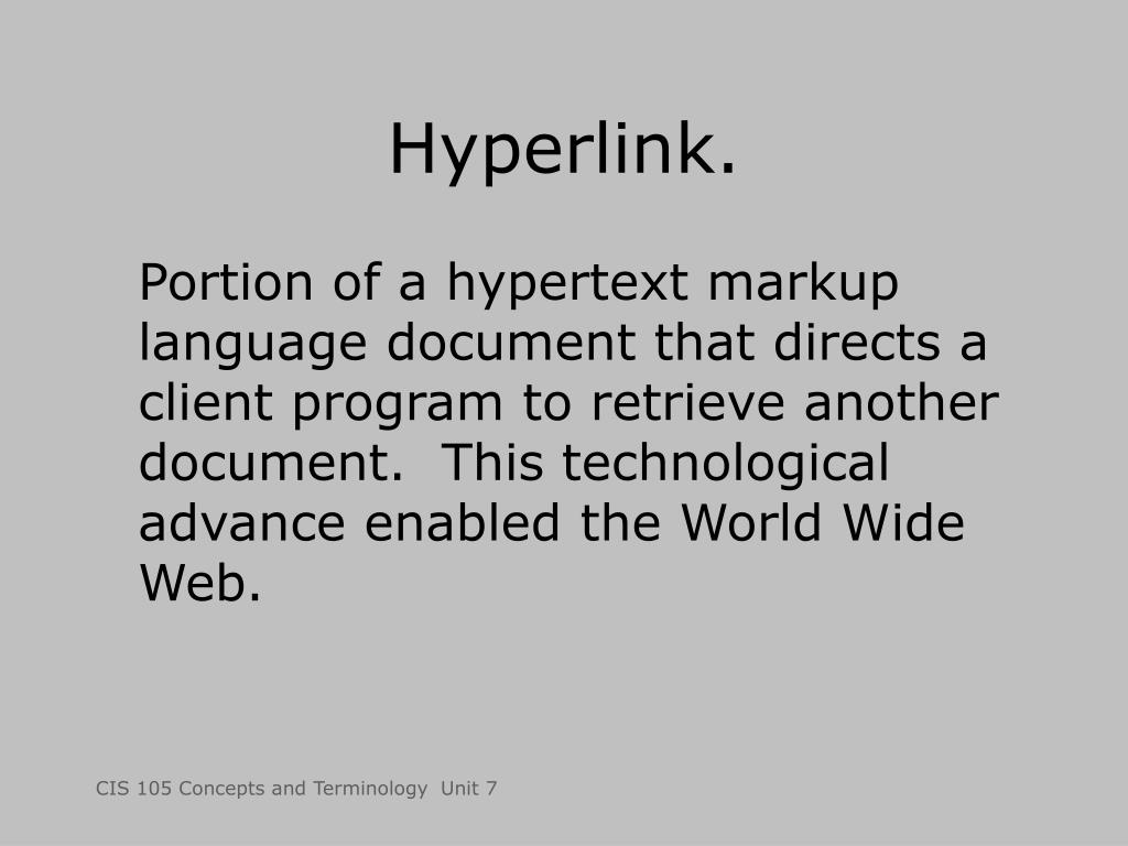 Hyperlink.