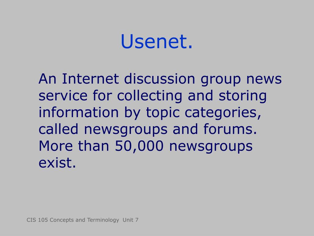Usenet.