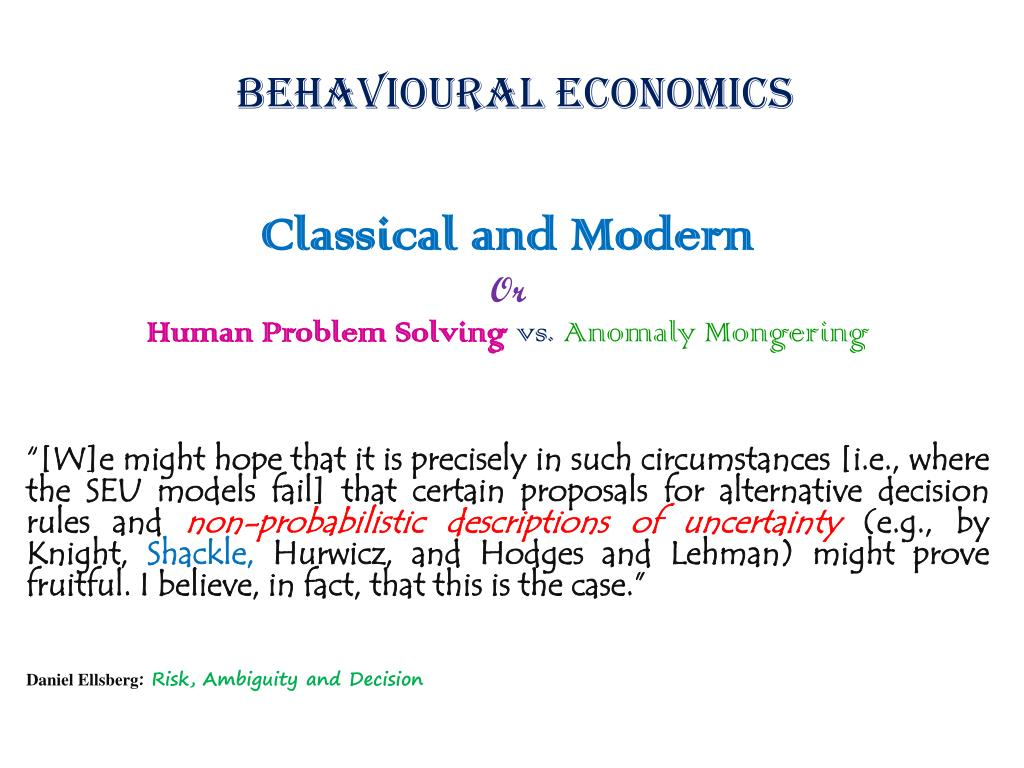 behavioural economics l.