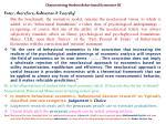 characterising modern behavioural economics iii