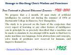 homage to shu heng chen s wisdom and prescience