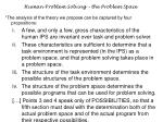 human problem solving the problem space