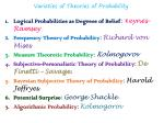 varieties of theories of probability