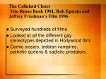 the celluloid closet vito russo book 1981 rob epstein and jeffrey friedman s film 1996