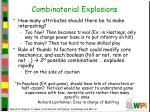 combinatorial explosions