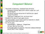 component balance