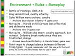 environment rules gameplay