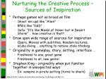 nurturing the creative process sources of inspiration