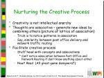 nurturing the creative process