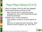 player player balance 2 of 2
