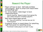 reward the player