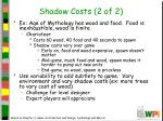shadow costs 2 of 2