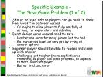 specific example the save game problem 1 of 276