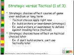 strategic versus tactical 1 of 3