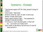 symmetry example