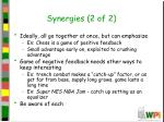 synergies 2 of 2