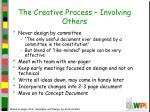 the creative process involving others