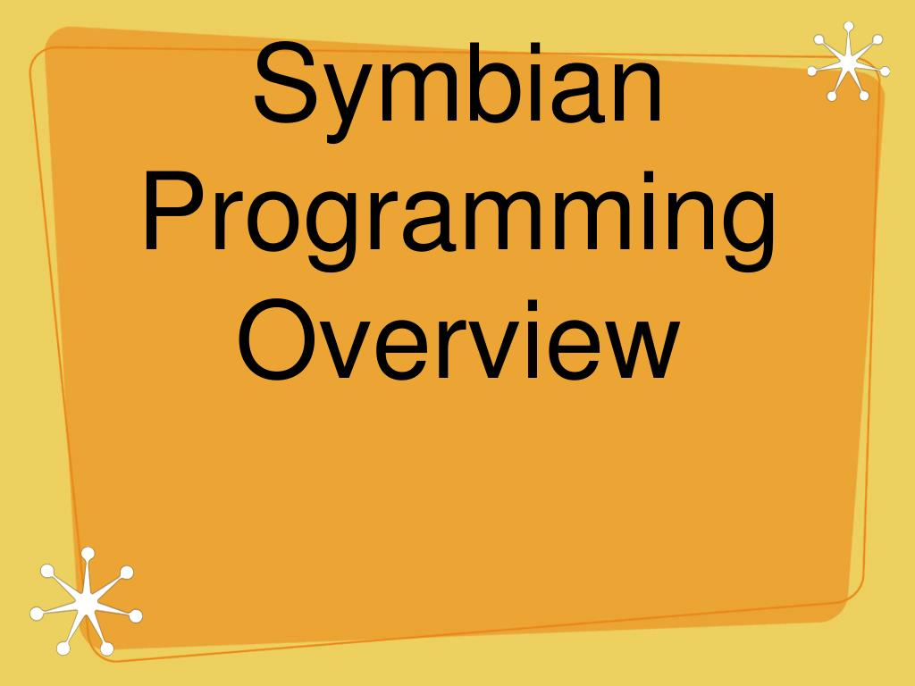 symbian programming overview l.