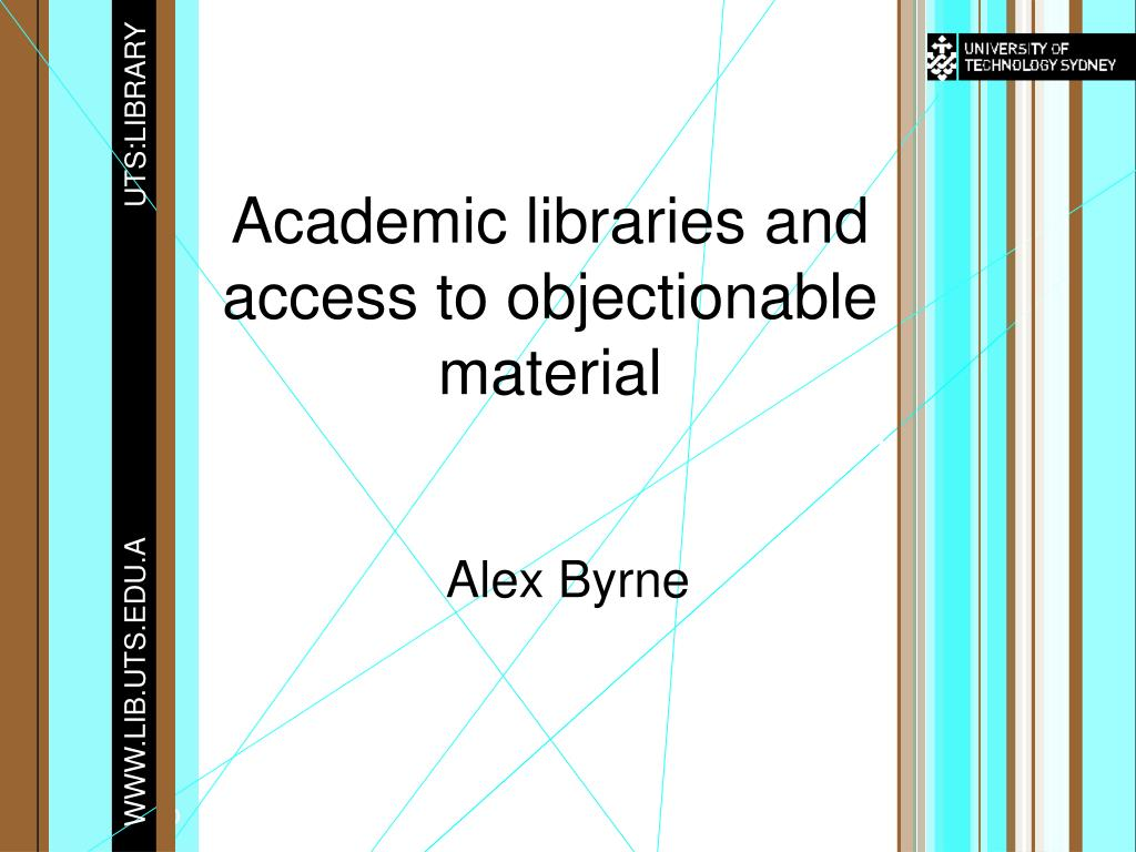 academic libraries and access to objectionable material l.
