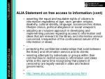 alia statement on free access to information cont