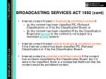 broadcasting services act 1992 cont