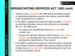 broadcasting services act 1992 cont20