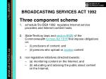 broadcasting services act 1992
