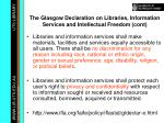 the glasgow declaration on libraries information services and intellectual freedom cont