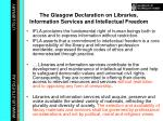 the glasgow declaration on libraries information services and intellectual freedom