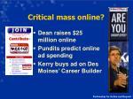 critical mass online