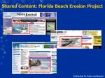 shared content florida beach erosion project