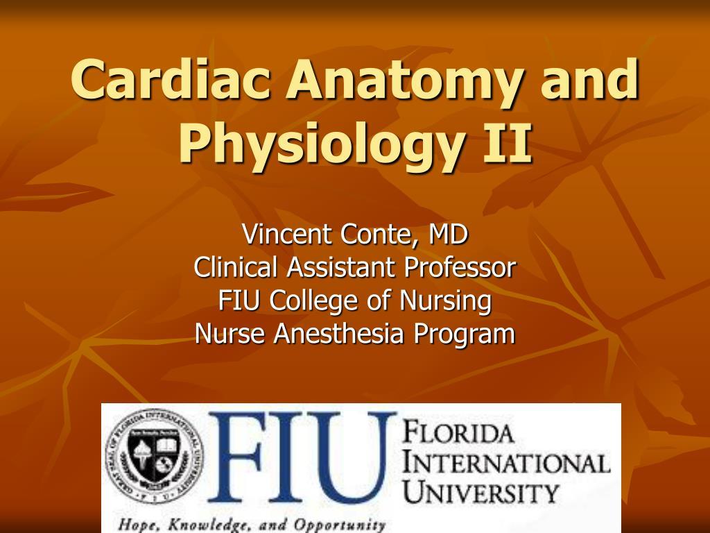 PPT - Cardiac Anatomy and Physiology II PowerPoint