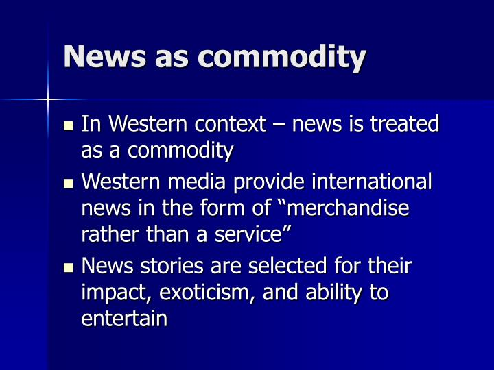 News as commodity