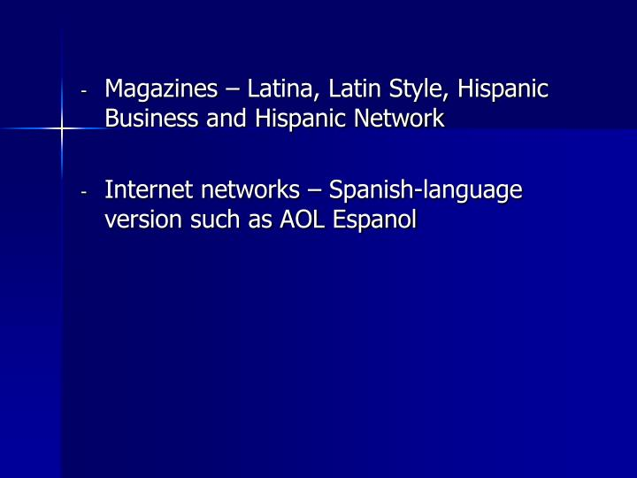 Magazines – Latina, Latin Style, Hispanic Business and Hispanic Network