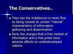 the conservatives