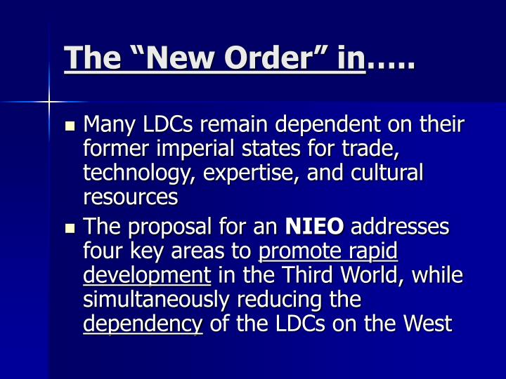 """The """"New Order"""" in"""