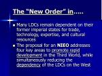 the new order in