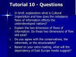 tutorial 10 questions