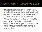 some features directory servers